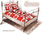 Pościel satynowa 200x220 Gold Line Modna Red Greno w sklepie internetowym Karo.waw.pl