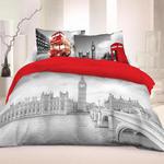 Pościel bawełniana 220x200 Londyn 3D 8690 Młodzieżowa Faro w sklepie internetowym Karo.waw.pl