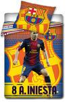 Pościel bawełniana 160x200 FC Barcelona Andrés Iniesta 8300 FCB5008 w sklepie internetowym Karo.waw.pl