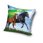 Poszewka 40x40 C 3D Animal Planet Konie Czarny Koń AP 1009 4872 w sklepie internetowym Karo.waw.pl
