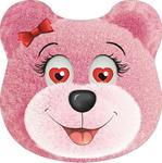 Poduszka dekoracyjna przytulanka duża 40x40 miś różowy B-179 w sklepie internetowym Karo.waw.pl