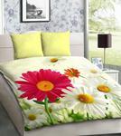 Pościel z mikrosatyny 3D 160x200 17 Rumianki Różowe i Białe 1054 Bed&You w sklepie internetowym Karo.waw.pl