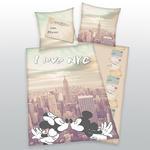 Pościel bawełniana 140x200 Myszki NY 5479 New York Miki Mini poszewka 70x90 w sklepie internetowym Karo.waw.pl