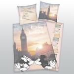 Pościel bawełniana 155x220 Myszki Londyn 5448 London Miki Mini poszewka 80x80 w sklepie internetowym Karo.waw.pl