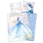 Pościel bawełniana 135x200 Kopciuszek 7566 Cinderella Disney poszewka 80x80 w sklepie internetowym Karo.waw.pl