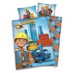 Pościel flanelowa 100x135 Bob Budowniczy 6625 Koparki Budowa do łóżeczka w sklepie internetowym Karo.waw.pl