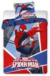 Pościel bawełniana 160x200 Spiderman 6022 Pająk Spider Man dziecięca w sklepie internetowym Karo.waw.pl