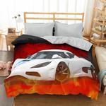 Pościel z mikrosatyny 3D 160x200 28 Samochód Sportowy Biały 0018 Bed&You w sklepie internetowym Karo.waw.pl