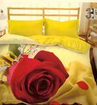 Pościel z mikrosatyny 3D 160x200 39 Czerwona Róża dla Ciebie 0013 Bed&You w sklepie internetowym Karo.waw.pl