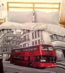 Pościel z mikrosatyny 3D 200x220 27 Autobus Czerwony Londyn 0026 Bed&You w sklepie internetowym Karo.waw.pl