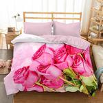 Pościel z mikrosatyny 3D 200x220 35 Bukiet Różowych Róż 0023 Bed&You w sklepie internetowym Karo.waw.pl