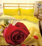 Pościel z mikrosatyny 3D 200x220 39 Czerwona Róża dla Ciebie 0020 Bed&You w sklepie internetowym Karo.waw.pl