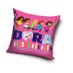 Poszewka 40x40 Dora dziewczynka i przyjaciółki 0124 różowa w sklepie internetowym Karo.waw.pl