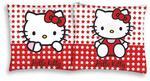 Poszewka bawełniana 40x40 Hello Kitty białe czerwone gwiazdki 1237 w sklepie internetowym Karo.waw.pl