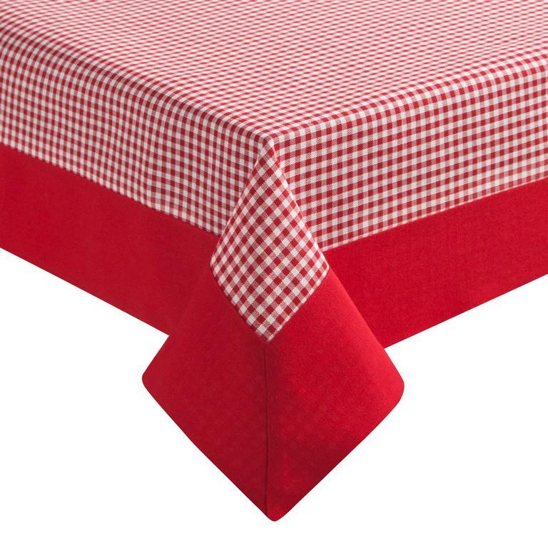 e896fe15cd Obrus Asta 150x220 czerwony w kratkę listwa czerwona Eurofirany w sklepie  internetowym Karo.waw. Powiększ zdjęcie