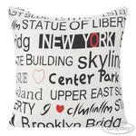 Poszewka dekoracyjna 40x40 City Ny 1 napisy New York serduszko Eurofirany w sklepie internetowym Karo.waw.pl