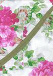 Fartuch kuchenny bawełniany 75x62 1158E 607N pelargonia różowa w sklepie internetowym Karo.waw.pl