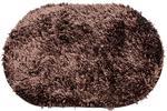 Dywanik łazienkowy 60x90 Shaggy brązowy owalny frędzle Eurofirany w sklepie internetowym Karo.waw.pl