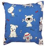 Poszewka bawełniana 40x40 1243E niebieska psy białe czarne czerwone 18b w sklepie internetowym Karo.waw.pl