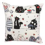 Poszewka bawełniana 40x40 1240E biała koty myszki serca krawaty czerwone 17d w sklepie internetowym Karo.waw.pl