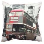 Poszewka dekoracyjna 40x40 12195 czerwony autobus Londyn miasto 4442 w sklepie internetowym Karo.waw.pl