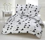 Poszewka bawełniana 40x40 1241E biała koty myszki serca krawaty białe 17e w sklepie internetowym Karo.waw.pl