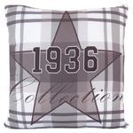 Poszewka dekoracyjna 40x40 Astre szara krata gwiazda 1936 Eurofirany w sklepie internetowym Karo.waw.pl