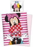 Pościel bawełniana 140x200 Myszka Mini I Love Mickey Lol paski STC21 0642 w sklepie internetowym Karo.waw.pl