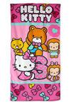 Ręcznik plażowy 70x140 Hello Kitty Kotek 2854 różowy dziecięcy w sklepie internetowym Karo.waw.pl
