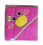 Okrycie kąpielowe 80x80 Kaczuszka kaczka różowe ręcznik z kapturkiem 8818 w sklepie internetowym Karo.waw.pl