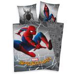 Pościel bawełniana 140x200 Spiderman 0356 Człowiek Pająk szara poszewka 70x90 w sklepie internetowym Karo.waw.pl
