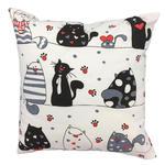 Poszewka bawełniana 70x80 1240E biała koty myszki serca krawaty czerwone 17d w sklepie internetowym Karo.waw.pl