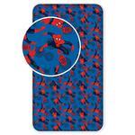 Prześcieradło bawełniane z gumką 90x200 Spiderman 0372 Człowiek Pająk dla dzieci w sklepie internetowym Karo.waw.pl