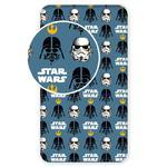 Prześcieradło bawełniane z gumką 90x200 Star Wars 0389 Gwiezdne Wojny dla dzieci w sklepie internetowym Karo.waw.pl