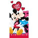 Ręcznik plażowy 70x140 Myszki Mini i Miki 1362 miłość serca na Walentynki bawełniany w sklepie internetowym Karo.waw.pl