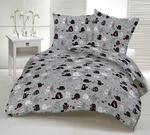 Pościel bawełniana 100x135 1237E szara koty myszki serca krawaty czerwone 17a w sklepie internetowym Karo.waw.pl