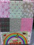 Pościel z kory 160x200 wzór 96/4 Paczłork różowy ciemny na guziki 100% bawełna gruba w sklepie internetowym Karo.waw.pl