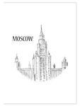 Plakat z grafiką Moskwa plakat na ścianę w sklepie internetowym Naklej-To