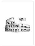 Plakat z miastem Rzym plakat na ścianę w sklepie internetowym Naklej-To