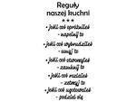 naklejka Reguły kuchni 2 naklejka na scianę w sklepie internetowym Naklej-To