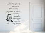 naklejka z cytatem Jana Pawła II Kocha się naprawdę naklejka na ścianę w sklepie internetowym Naklej-To