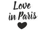 Love in Paris 2 naklejka w sklepie internetowym Naklej-To