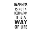 naklejka na ścianę Happiness is not a destination naklejka na ścianę w sklepie internetowym Naklej-To