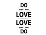naklejka na ścianę Do what you love 2 naklejka na ścianę w sklepie internetowym Naklej-To