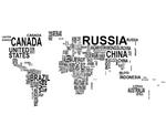 naklejka na ścianę Mapa świata 5 nazwy państw naklejka na ścianę w sklepie internetowym Naklej-To