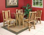 Meble bambusowe do jadalni ze stołem w sklepie internetowym Extrahome.pl