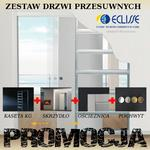 Zestaw ECLISSE - drzwi chowane w ścianę GK, Laminowane w sklepie internetowym dd-company.pl