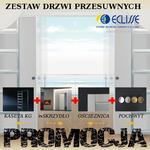 Zestaw ECLISSE - podwójne drzwi chowane w ścianę GK, Laminowane w sklepie internetowym dd-company.pl