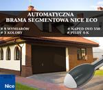 AUTOMATYCZNA BRAMA SEGMENTOWA NICE ECO BRĄZ RAL 8014 w sklepie internetowym dd-company.pl
