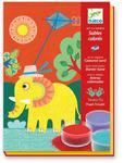 """Zestaw artystyczny z piaskiem """"W powietrzu"""" - zestaw plastyczny dla dzieci do kolorowania sypkim piaskiem, DJECO w sklepie internetowym MądreSzkraby"""